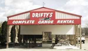 Drifty's Complete Canoe Rental, Ontario WI